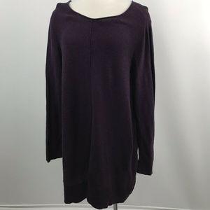 Eileen Fisher Organic Cotton Purple Knit Dress